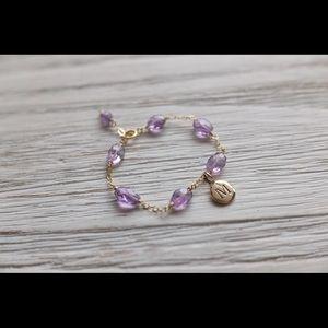 Jewelry - Amethyst bracelet with initial charm